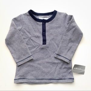 ★ FIRST IMPRESSIONS   STRIPPED NAUTICAL SHIRT